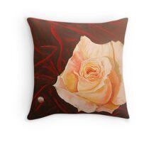 Pearl Rose Throw Pillow