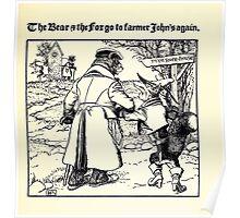 The Wonder Clock Howard Pyle 1915 0311 The Bear and Fox go to Farmer John's Again Poster
