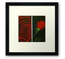 Irish Rose in Red Framed Print