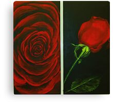 Irish Rose in Red Canvas Print