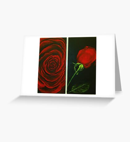 Irish Rose in Red Greeting Card