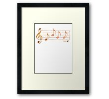 SING - Words in Music - Rust -  V-Note Creations Framed Print