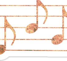 SING - Words in Music - Rust -  V-Note Creations Sticker