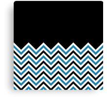 Black & Blue Chevrons Canvas Print