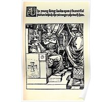 The Wonder Clock Howard Pyle 1915 0041 The Young King Looks upon Beautiful Picture Poster