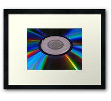 DVD sparkles... Framed Print