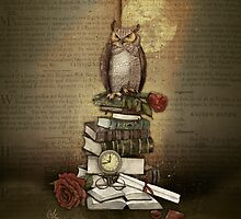 The Bibliophile - (the lover of books) by marineloup-art
