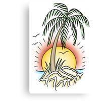 Summer Beach Island Canvas Print