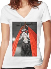 The Aerialist Women's Fitted V-Neck T-Shirt