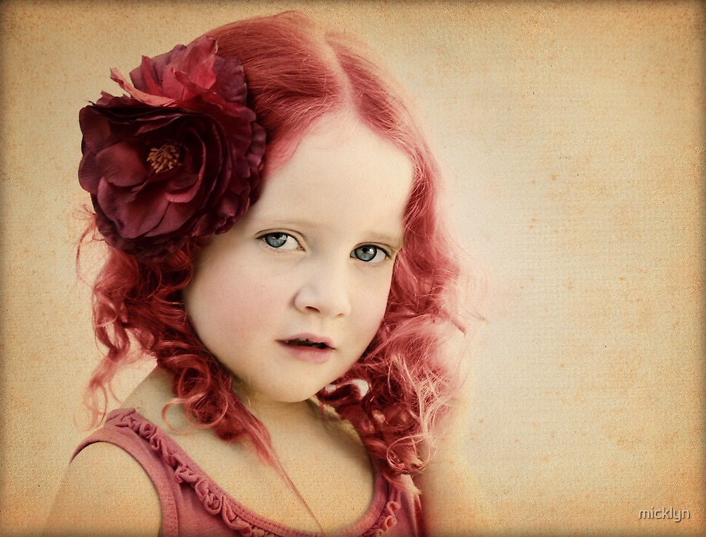 Mila as a Vintage Rose by micklyn