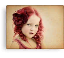 Mila as a Vintage Rose Canvas Print