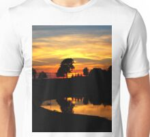 I say goodbye to my favorite time of the day..Watch the sun drop and the dusk fade..Another two dozen hours go by and times going quicker at 45 Unisex T-Shirt