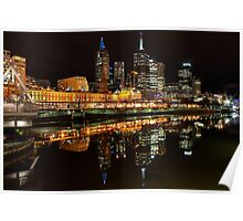 Flinders Street Station and Cityscape Poster