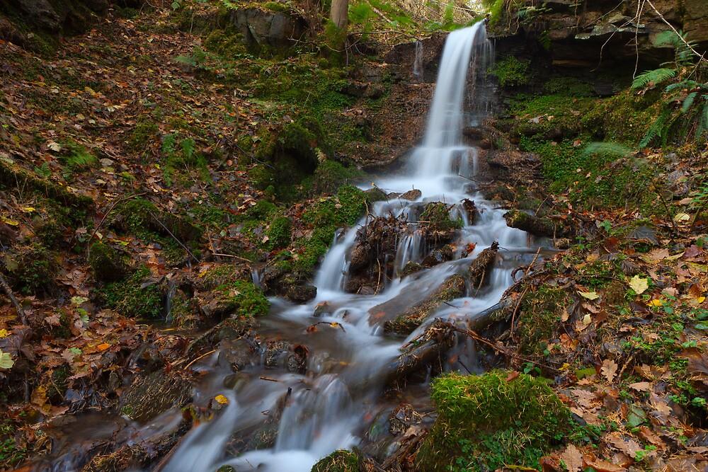 Waterfall, Parkin Clough.  by Nick Atkin