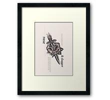Rose & Dagger Framed Print