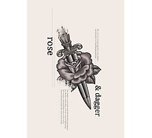 Rose & Dagger Photographic Print
