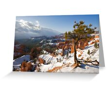 Bryce Canyon snowscape Greeting Card