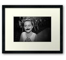 Mustache You A Question.. Framed Print
