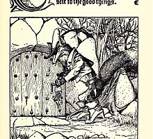 The Wonder Clock Howard Pyle 1915 0305 The Great Red Fox Goeth to Store House Helps Himself to Good Thigns by wetdryvac