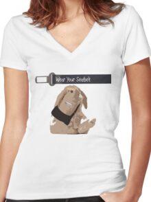 Crash Bunny Women's Fitted V-Neck T-Shirt