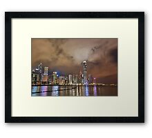 Hongkong fro the pier Framed Print