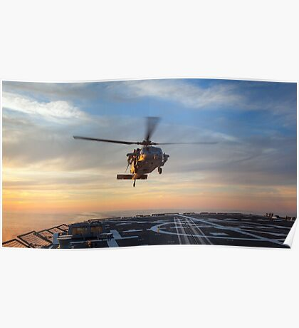 MH-60S Seahawk Helicopter Poster