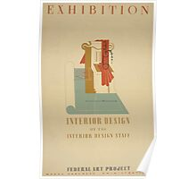 WPA United States Government Work Project Administration Poster 0687 Exhibition Interior Design Poster
