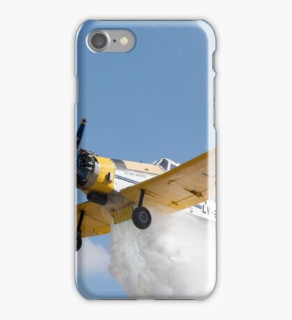 Crop duster aircraft does a drop iPhone Case/Skin