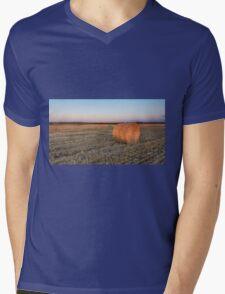 A lone hay bale Mens V-Neck T-Shirt