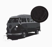 VW camper monochrome by GavinCraig