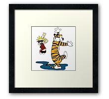 Calvin & Hobbes Dance,Calvin & Hobbes Framed Print