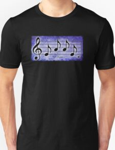 LOVE - Words in Music Purple Background - V-Note Creations T-Shirt