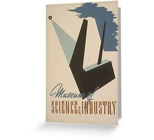 WPA United States Government Work Project Administration Poster 0496 Museum of Science and Industry Greeting Card