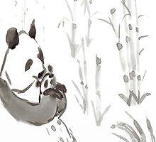 Panda Sumi-e  by sambowie
