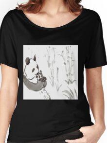 Panda Sumi-e  Women's Relaxed Fit T-Shirt
