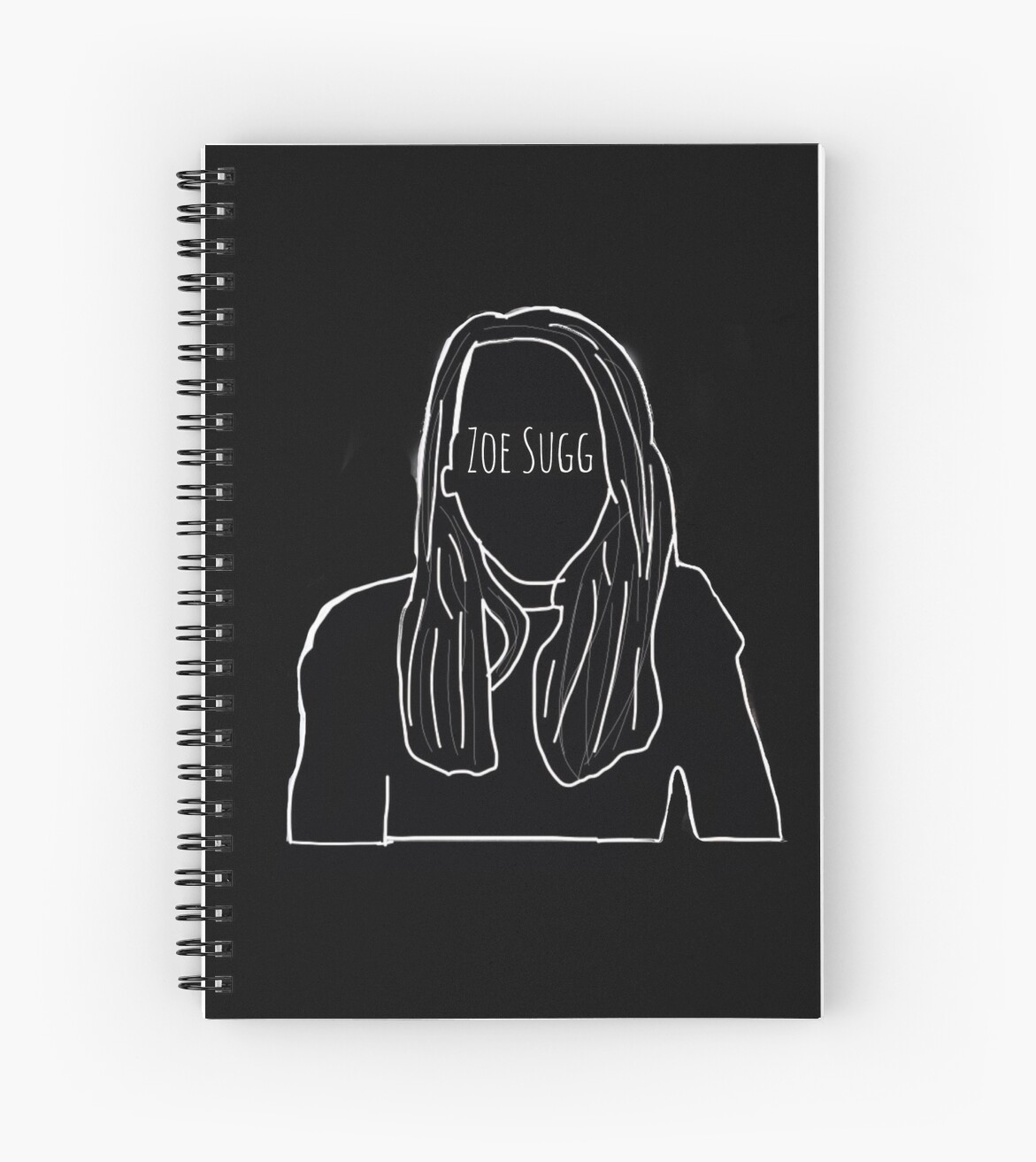 Zoella Line Drawing : Quot zoella outline spiral notebooks by zaraisnotonfire