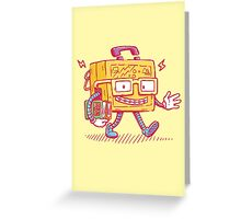 Back to School LunchPail Bot Greeting Card