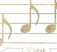 LOVE - Words in Music - Earth Tones -  V-Note Creations Sticker