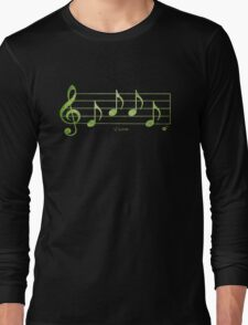 LOVE - Words in Music - Blue -  V-Note Creations Long Sleeve T-Shirt