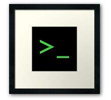 Command Prompt Framed Print