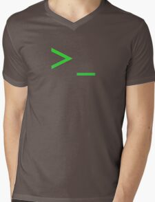 Command Prompt Mens V-Neck T-Shirt