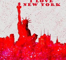 I LOVE NEW YORK - Color Red by bill holkham