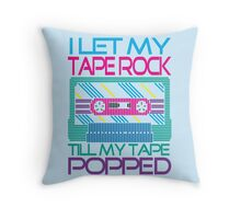 Tape Popped!! Throw Pillow