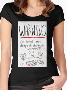 Contains Secrets and Doodles Women's Fitted Scoop T-Shirt