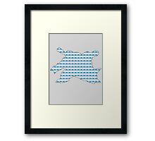Blastoise Pokeball Silhouette Framed Print