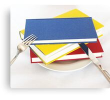 Have a book for breakfast Canvas Print