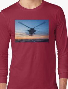 MH-60S Seahawk Helicopter Long Sleeve T-Shirt