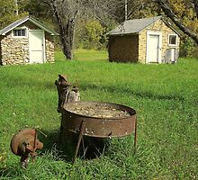 Days Gone By, Back yard Grinder, NW Arkansas by David  Hughes