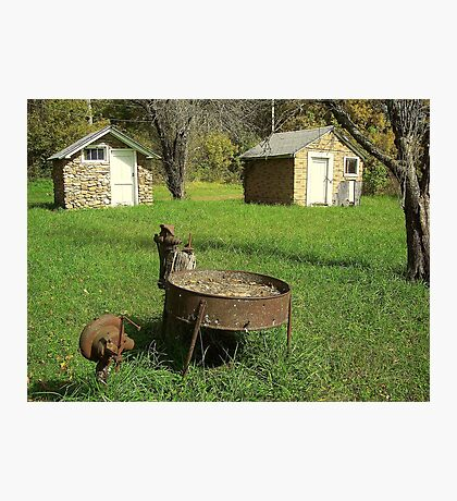 Days Gone By, Back yard Grinder, NW Arkansas Photographic Print