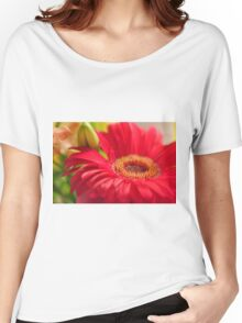 Red Gerbera, As Is Women's Relaxed Fit T-Shirt